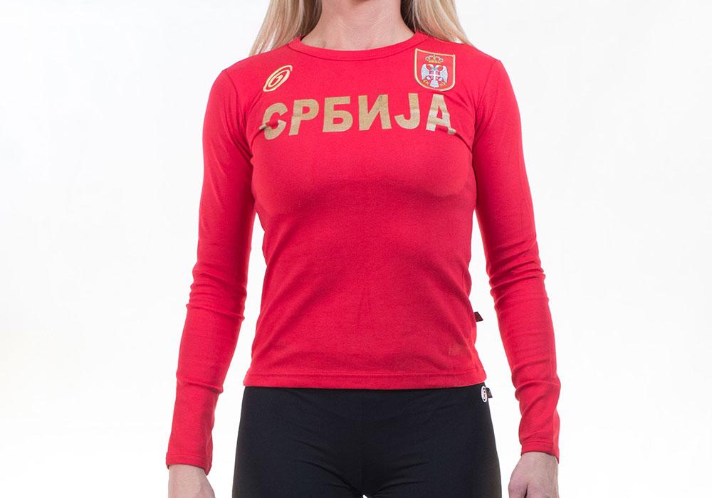 majica srbija ženska
