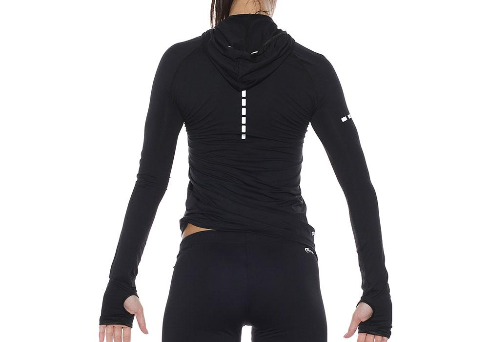 zenska majica running kapuljaca