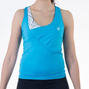 ženska fitness majica plava